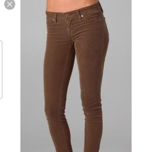 AG the legging super skinny brown corduroy pants